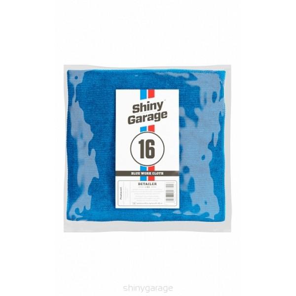 Shiny Garage Plush Blue 40x40cm - mikrovláknová utierka