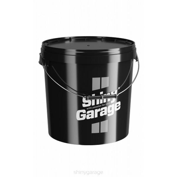 Shiny Garage bucklet 20L black - umývacie vedro čierne so separátorom