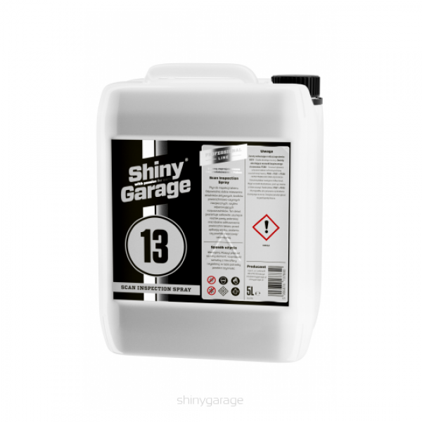 Shiny Garage Scan Inspection Spray 5L - odmastnenie laku (IPA)